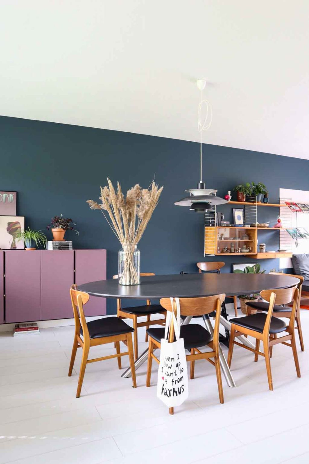 Colour blocking in de woonkamer