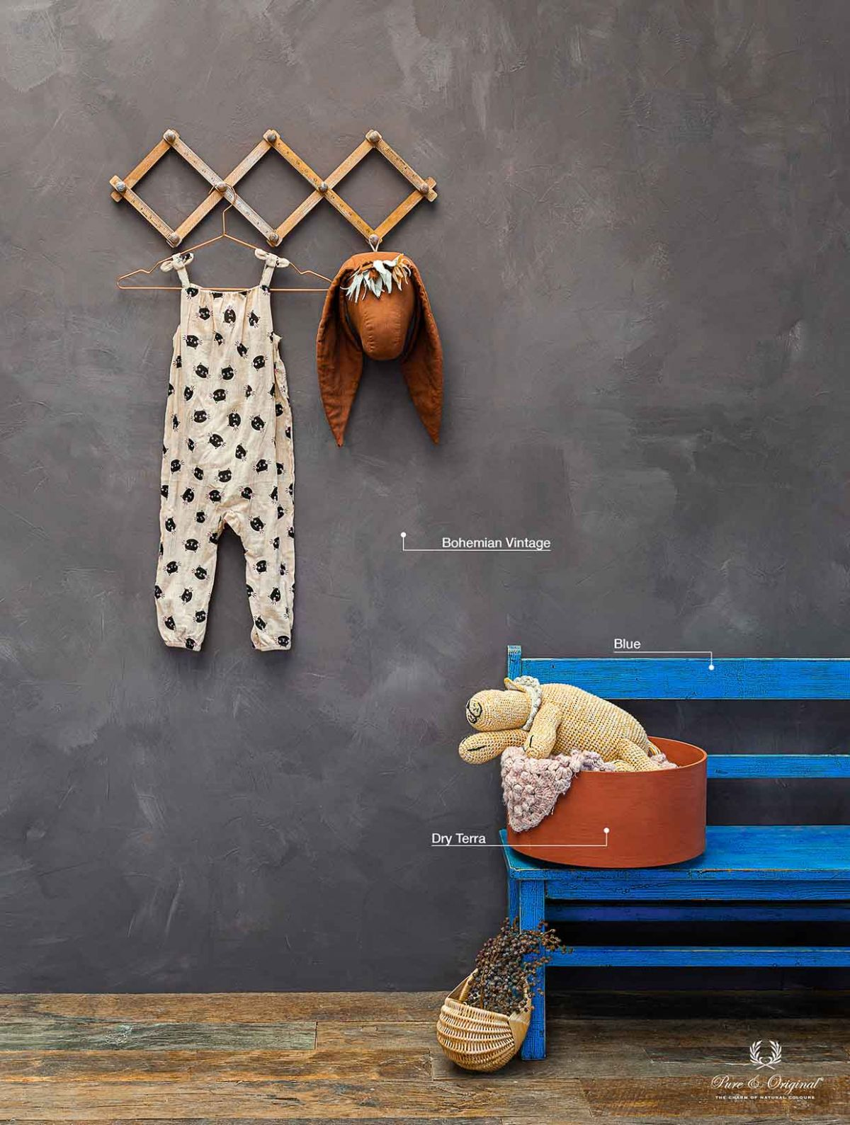 Kids room with toys and a various selection of interior colours