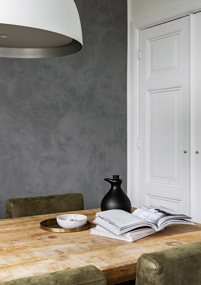 Tin Kettle Marrakech Walls betonlook Pure & Original eetkamer Iris Floor