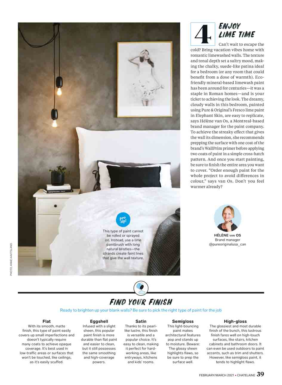 Publication Chatelaine magazine USA/CAN feb/march 2021