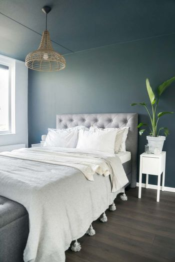 Article HOMIFY grey blue bedroom inspiration