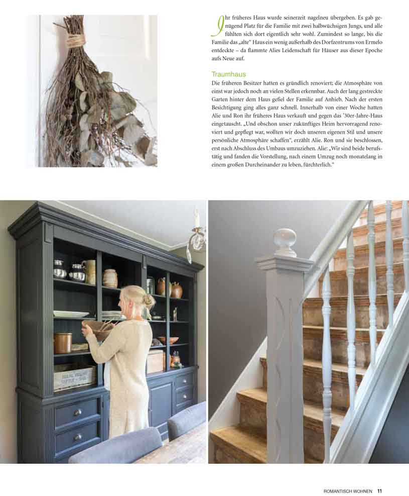 Old stairs and cabinet with accessoires