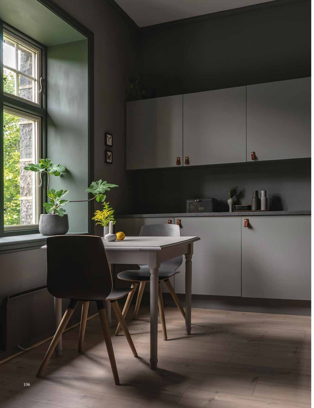 Kitchen in Earth Stone, Black Hills and Oyster Grey