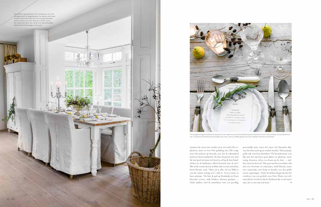 White dining room and accessoires