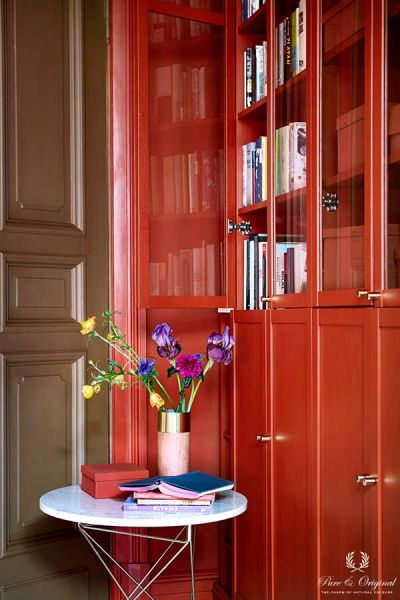 Colour Collection werkkamer kast, Traditional Paint en Classico in Brown Red, lak Praline