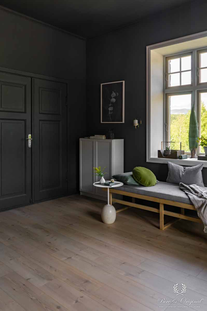 Traditional Paint en Classico in de kleur Black Smoke in de woonkamer