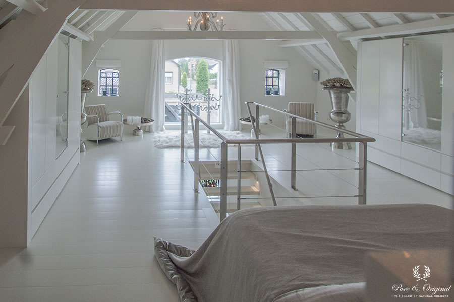 Classico krijtverf, Floor Paint en Traditional Paint in de kleur Island White, in de slaapkamer 2