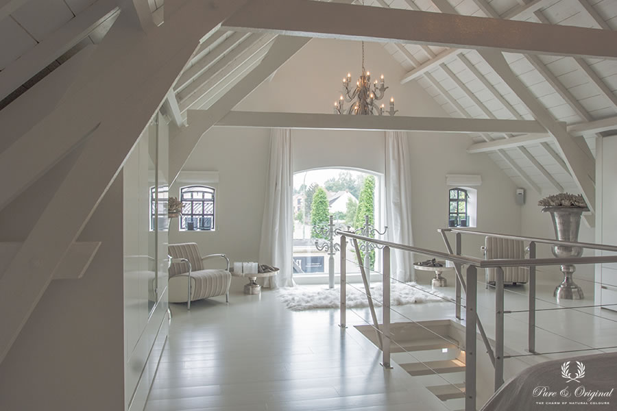 Classico krijtverf, Floor Paint en Traditional Paint in de kleur Island White, in de slaapkamer 3
