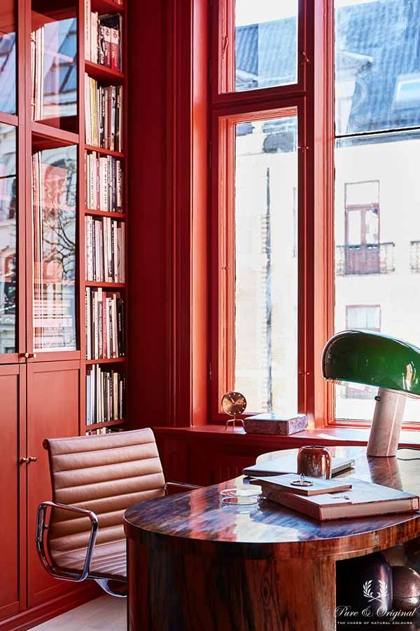 Colour Collection werkplek, Traditional Paint in de kleur Brown Red
